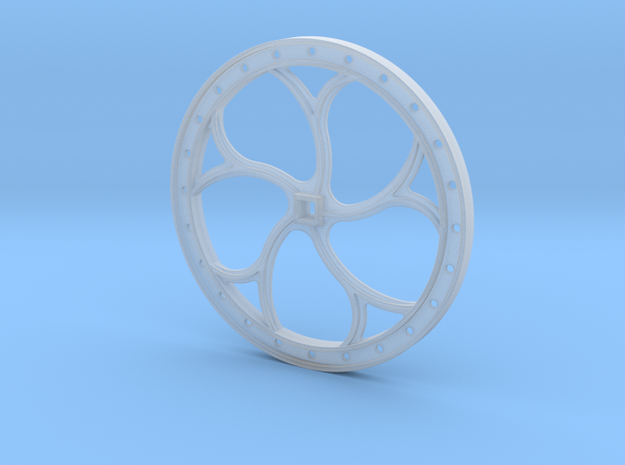 Brake Wheel F-Scale 1:20.3  in Smooth Fine Detail Plastic