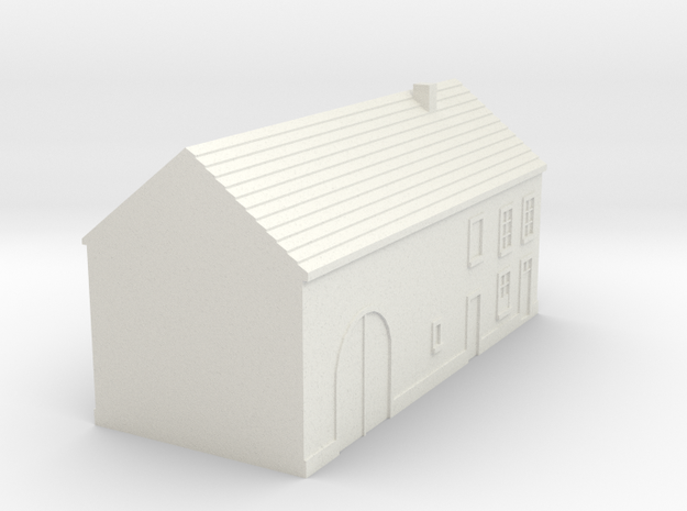 1/350 Barn House 4 in White Natural Versatile Plastic