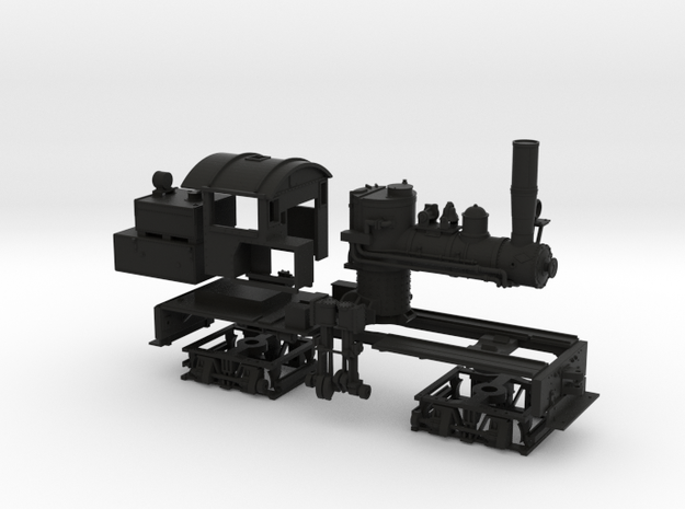 HO Scale Mich Cal Shay in Black Natural Versatile Plastic