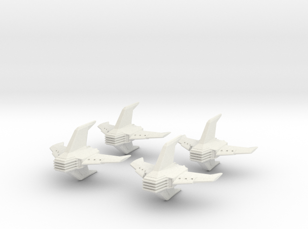 Shadow Rift Mechanized Empire Fighter Wing in White Natural Versatile Plastic