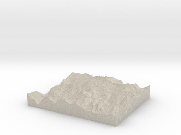 Model of Cascade Pass 3d printed