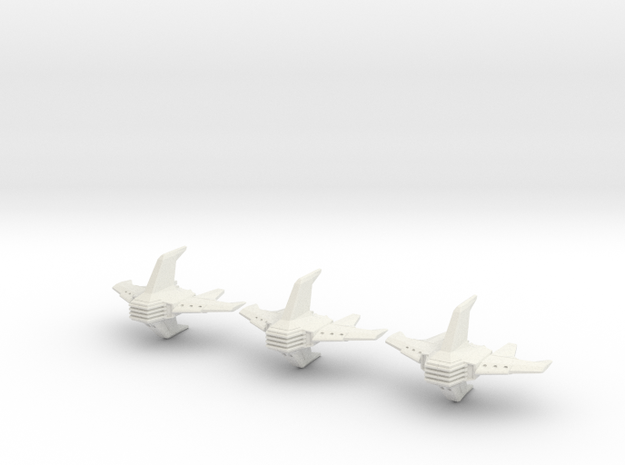 Shadow Rift Mechanized Empire Bomber Wing in White Natural Versatile Plastic