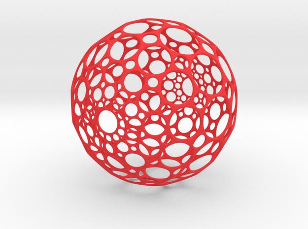 Hollow Sphere in Red Processed Versatile Plastic