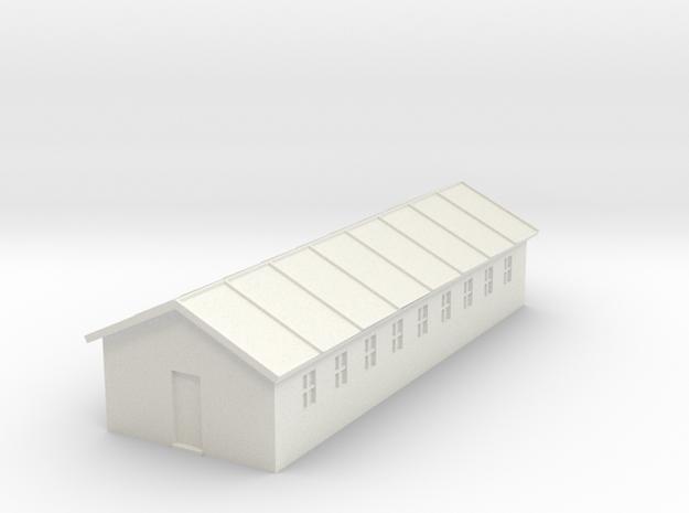 1/350 Barracks 1 in White Natural Versatile Plastic