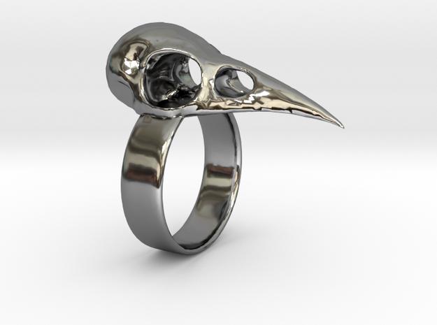 Realistic Raven Skull Ring - Size 9