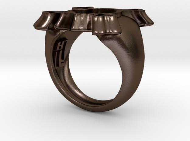Skull I Ring 3d printed