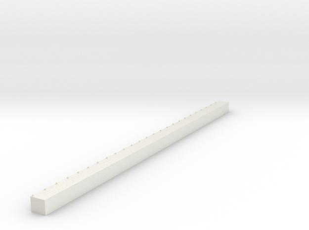 1/700 Single Span Concrete Dock in White Natural Versatile Plastic
