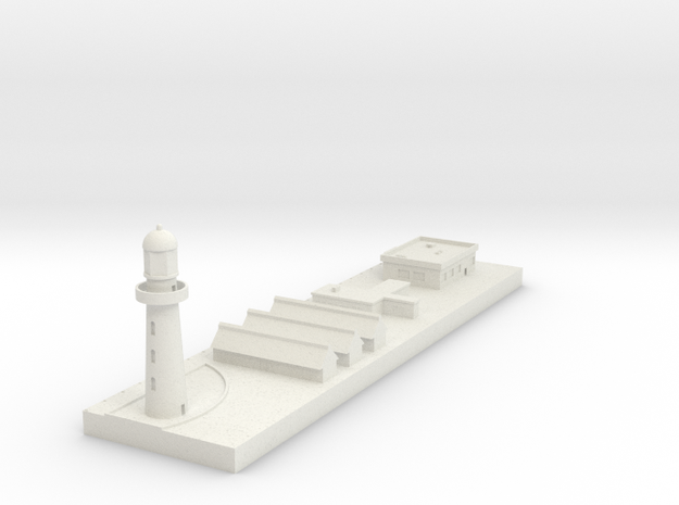 1/700 Concrete Dock and Buildings in White Natural Versatile Plastic