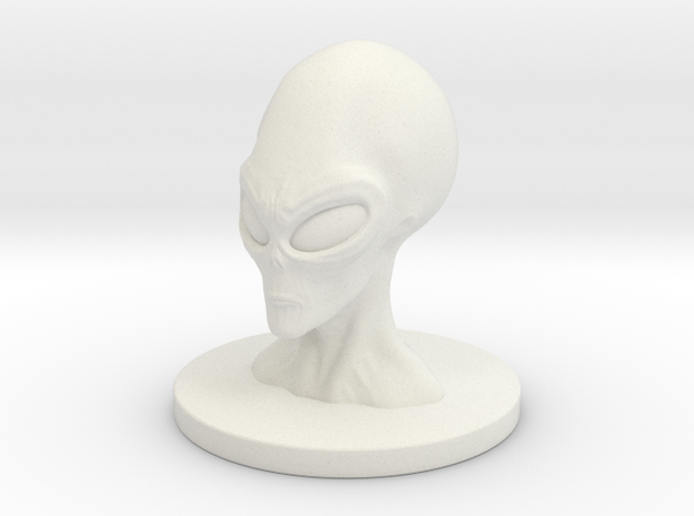 1 Inch Alien Profit Bust in White Strong & Flexible