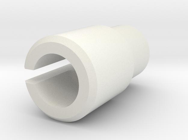 ThrottleCableAbutment+6 in White Natural Versatile Plastic