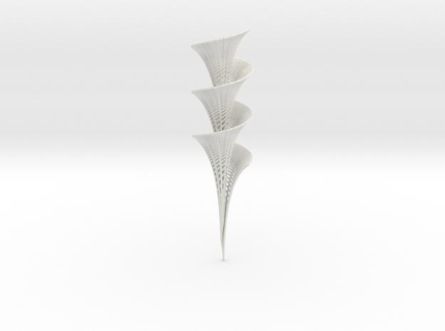 Dini's Surface in White Natural Versatile Plastic