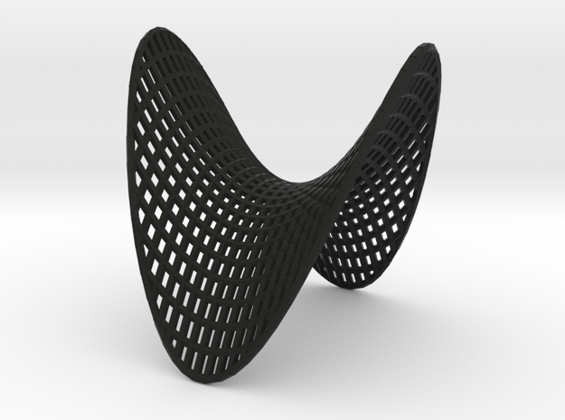Hyperbolic Paraboloid showing parabolic cross sect 3d printed