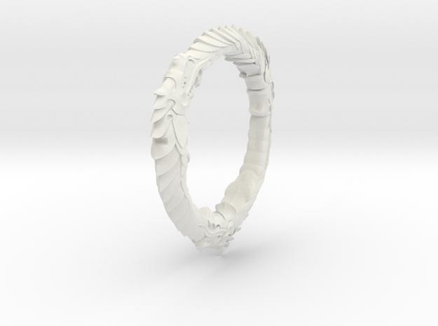 Triple Ourouboros Dragon Pendant 3d printed