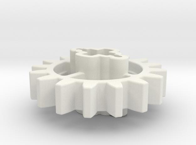 16z Angled Cross in White Natural Versatile Plastic