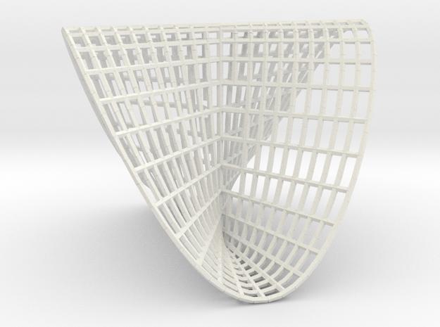 Pluecker's conoid in White Natural Versatile Plastic