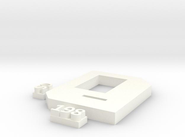 Section leading Karel in White Processed Versatile Plastic