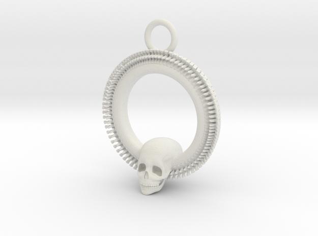 SkullPendant in White Natural Versatile Plastic