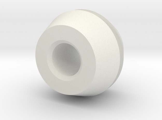 ElectricalMountingGrommet in White Natural Versatile Plastic