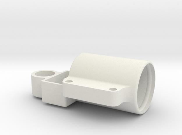 Capacitor Moulding in White Natural Versatile Plastic