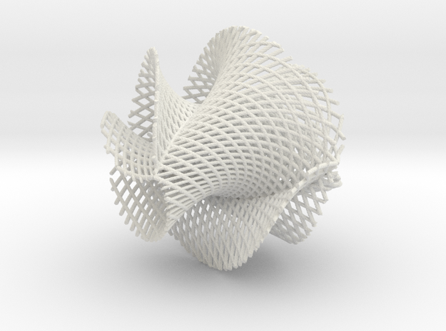 5x3 ribbon on hypersphere in White Natural Versatile Plastic
