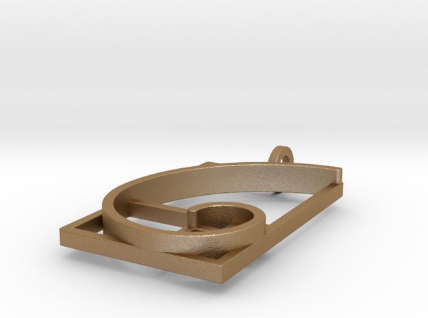 Fibonacci Spiral #2 - Pendant 3d printed