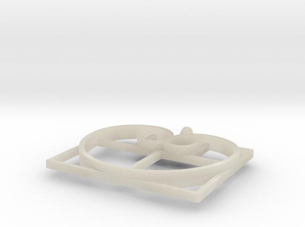 Fibonacci Heart - Pendant 3d printed