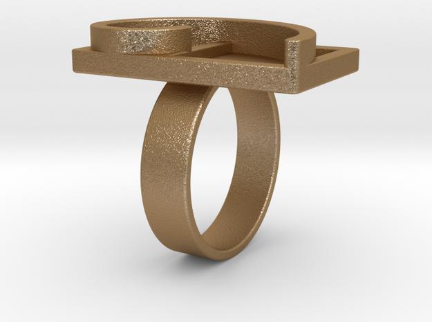 Fibonacci Spiral - Ring 3d printed