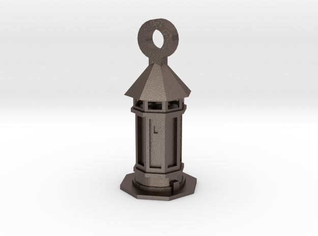 Tower in Polished Bronzed Silver Steel
