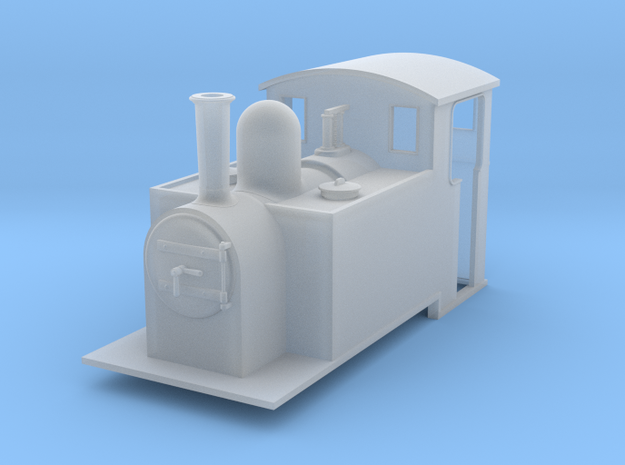 5.5 mm scale side tank loco 3d printed
