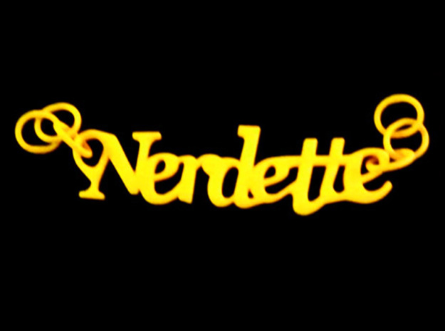 Nerdette Pendant in Yellow Strong & Flexible Polished