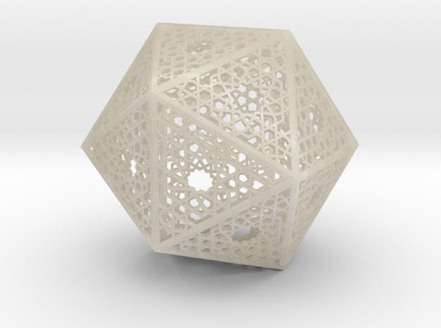 Screened Icosahedron 3d printed