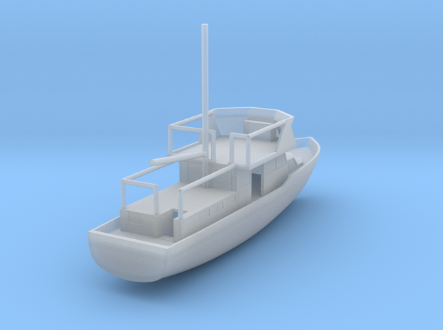 Fishing Boat - Zscale in Smooth Fine Detail Plastic