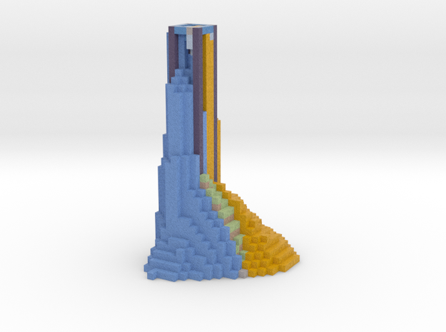 lava and ice tower 3d printed