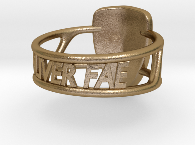 Oliver Fae's shield made into a ring! 3d printed