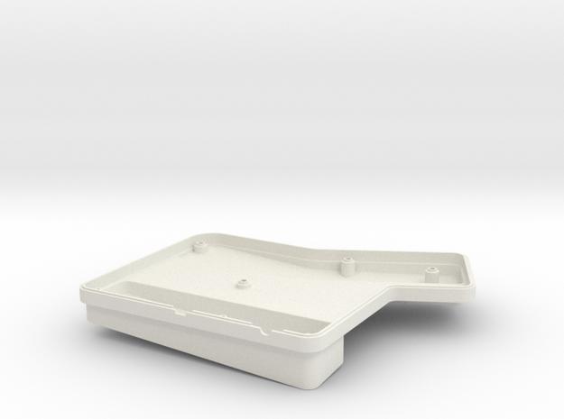 ErgoDox Bottom Right Case (double slope) in White Natural Versatile Plastic