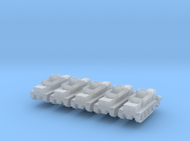 1/300 Armoured Sd.Kfz.7 Tractor x 5 3d printed