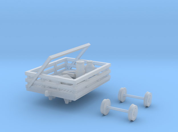 HOn30 PBR/ VR NKR-1 Trolley in Smooth Fine Detail Plastic