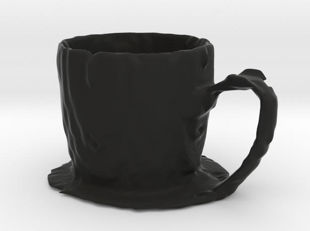 Coffee mug #7 - Melted in Black Natural Versatile Plastic
