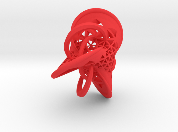 Seifert surface for the Trefoil knot with fibers 3d printed