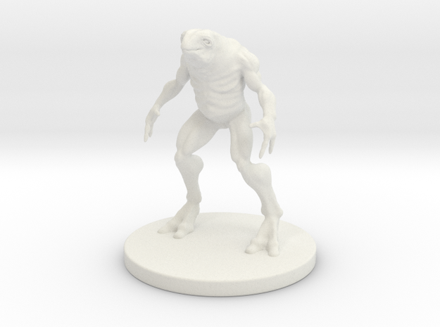 1 Inch Frog-like Man in White Natural Versatile Plastic