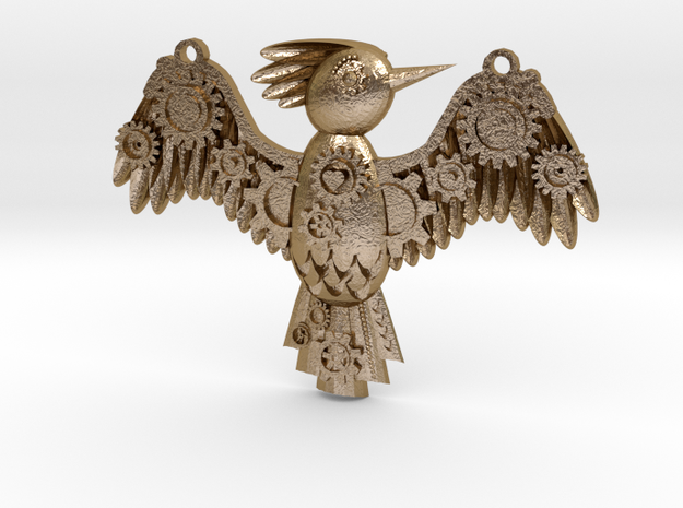 Steampunk Bird Pendant 3d printed