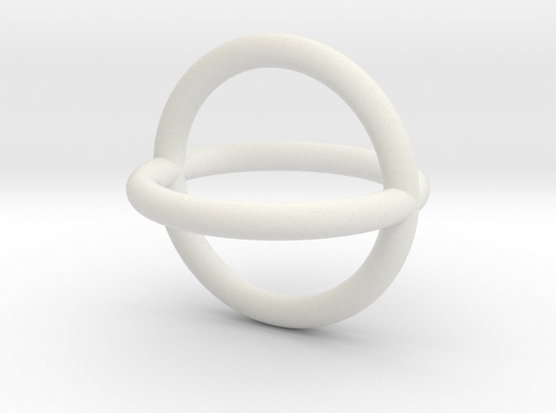 Double Torus in White Natural Versatile Plastic