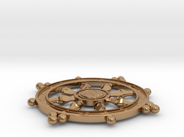 Wheel of Life Pendant - Dharmchakra 3d printed