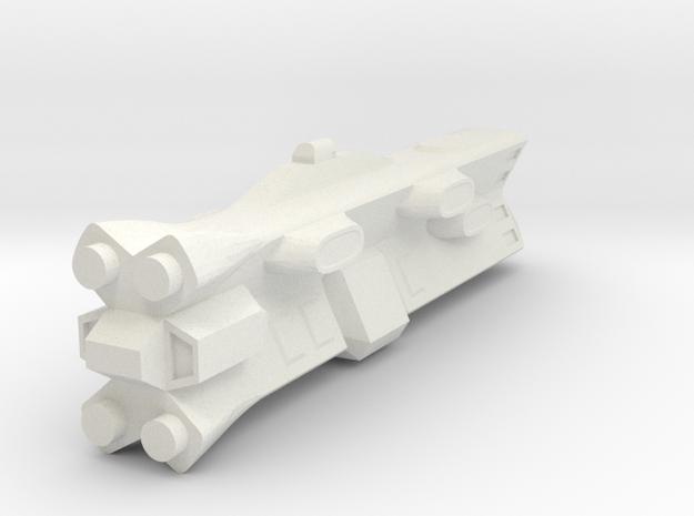 Terran Battleship in White Natural Versatile Plastic