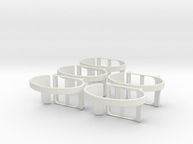 Nanolet medium  X5 in White Natural Versatile Plastic