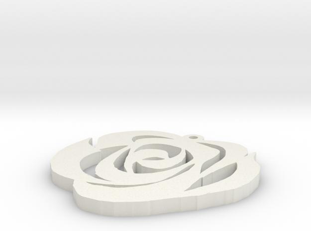 rose ver 2 in White Natural Versatile Plastic