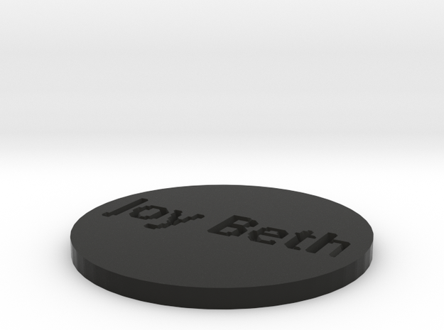 by kelecrea, engraved: Joy Beth 3d printed