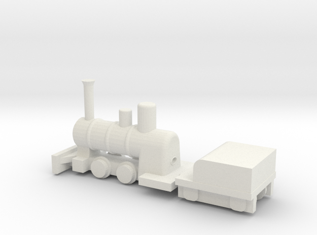 "7.5"" Gauge Romulus Boiler & Frames - HO Scale (1/8 in White Natural Versatile Plastic"