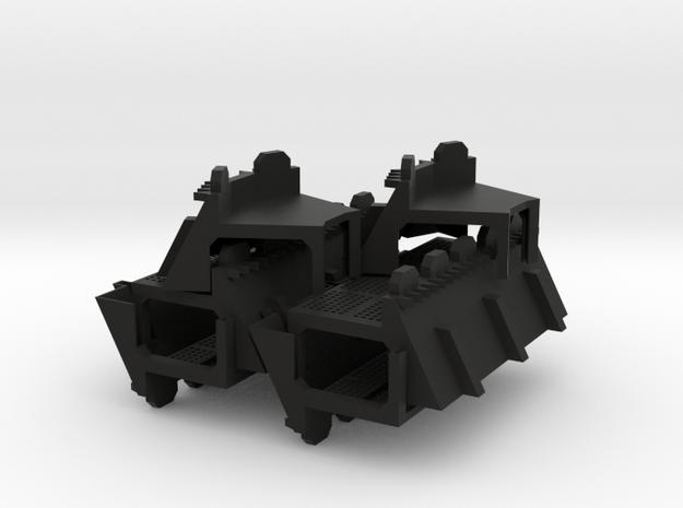 15mm Fortress Wall Set 3d printed