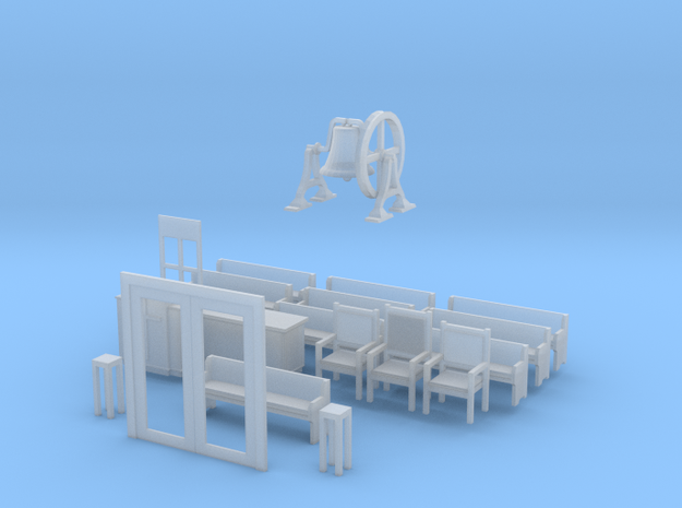 BL Church furnishing and int for doors in Smooth Fine Detail Plastic